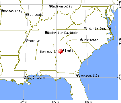 Morrow, Georgia map