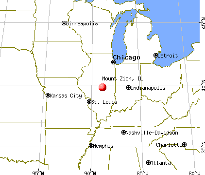 Mount Zion, Illinois map