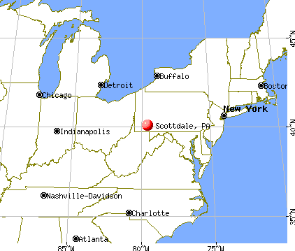 Scottdale, Pennsylvania map