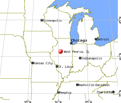 West Peoria, Illinois map