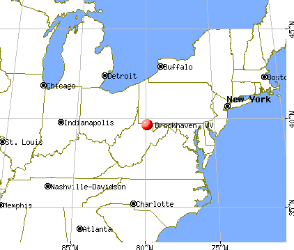 Brookhaven, West Virginia map