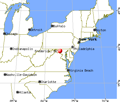 Frederick, Maryland map