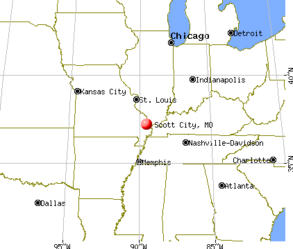 Scott City, Missouri map
