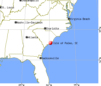 Isle of Palms, South Carolina map