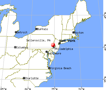Sellersville, Pennsylvania map