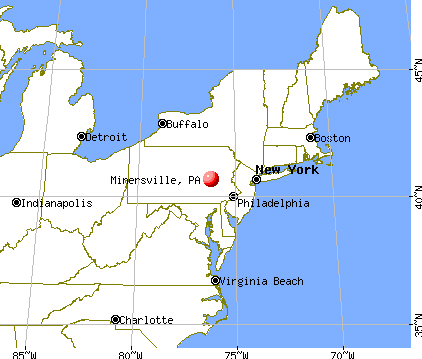 Minersville, Pennsylvania map