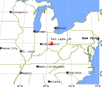 Park Layne, Ohio map
