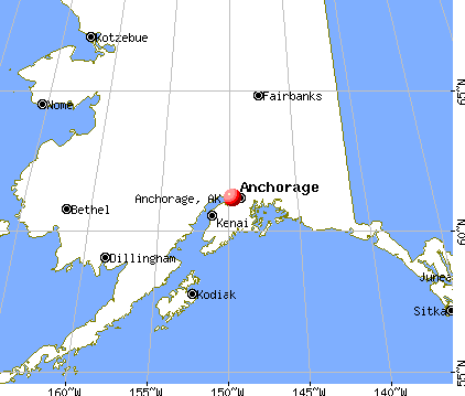 Anchorage, Alaska map