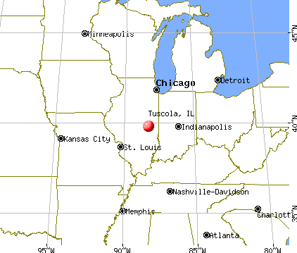 Tuscola, Illinois map