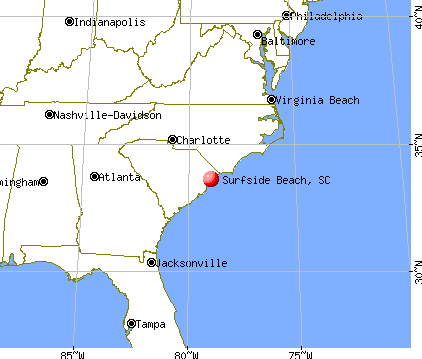Surfside Beach, South Carolina map