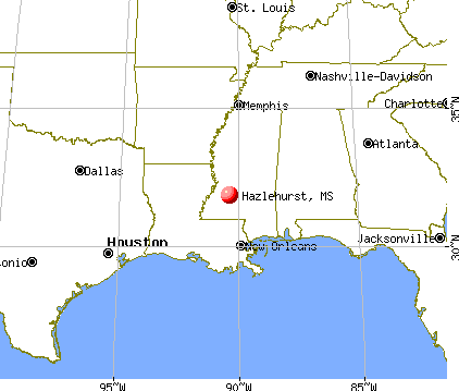 Hazlehurst, Mississippi map