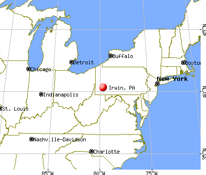 Irwin, Pennsylvania map