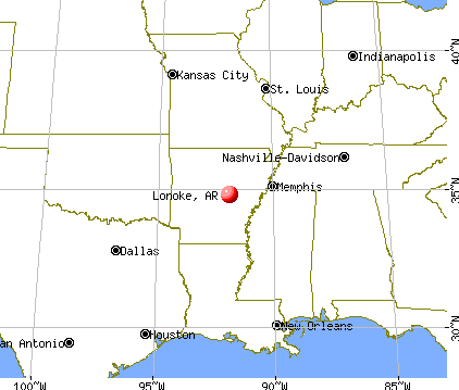 Lonoke, Arkansas map