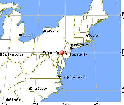 EXTON, Pennsylvania (PA 19341) profile: population, maps, real estate ...