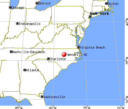 Wendell, North Carolina map