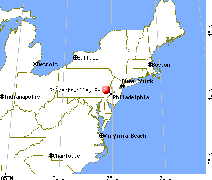 Gilbertsville, Pennsylvania map
