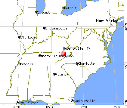 Rogersville, Tennessee map