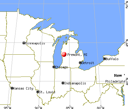 Fremont, Michigan map