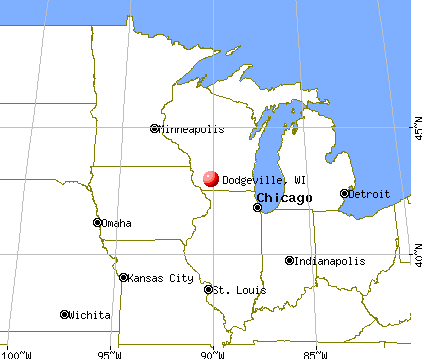 Dodgeville, Wisconsin map