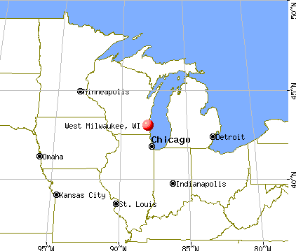 West Milwaukee, Wisconsin map