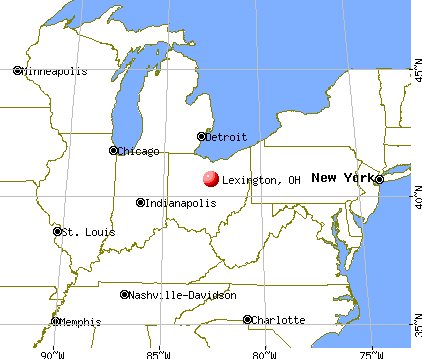 Lexington, Ohio map