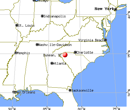 Dunean, South Carolina map