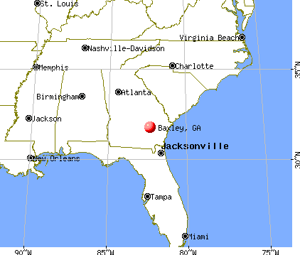 Baxley, Georgia map