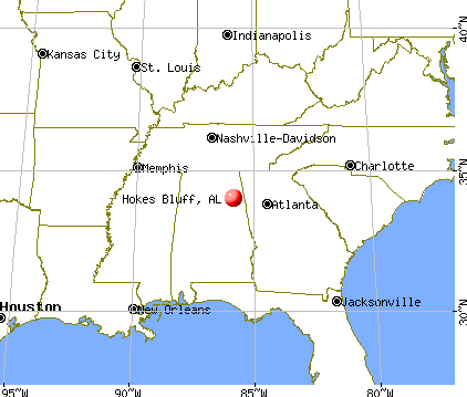 Hokes Bluff, Alabama map