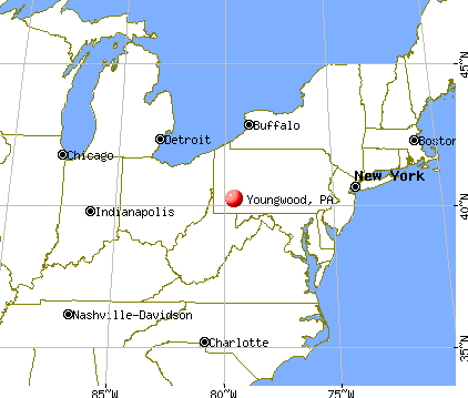 Youngwood, Pennsylvania map