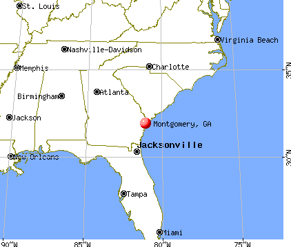 Montgomery, Georgia map
