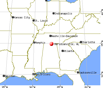 Meridianville, Alabama map