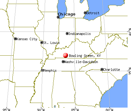 Bowling Green, Kentucky map