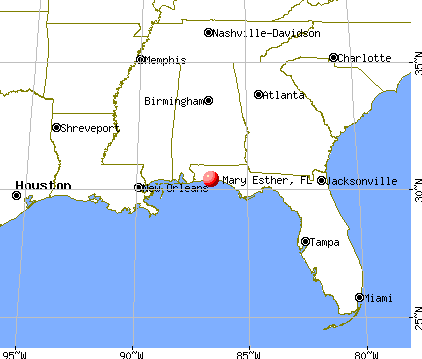 Mary Esther, Florida map