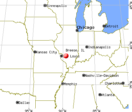 Breese, Illinois map