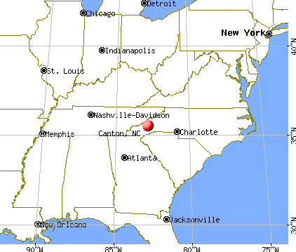 Canton, North Carolina map