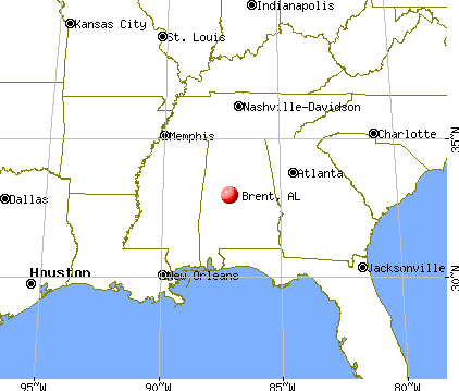 Brent, Alabama map