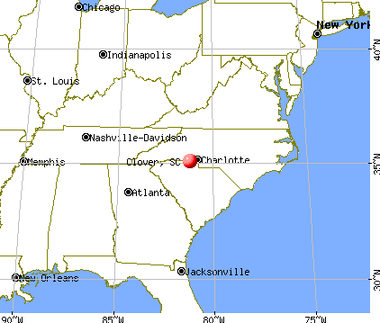 Clover, South Carolina map