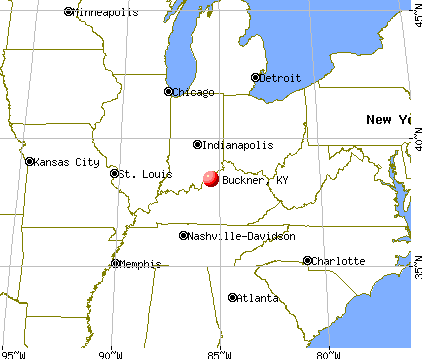 Buckner, Kentucky map