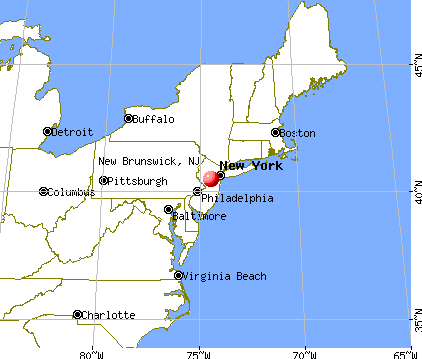 New Brunswick, New Jersey map