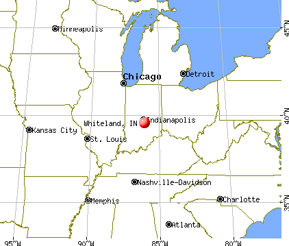 Whiteland, Indiana map