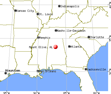 Mount Olive, Alabama map