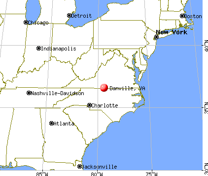 Danville, Virginia map