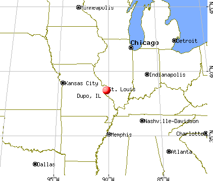 Dupo, Illinois map