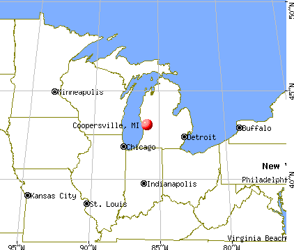 Coopersville, Michigan map