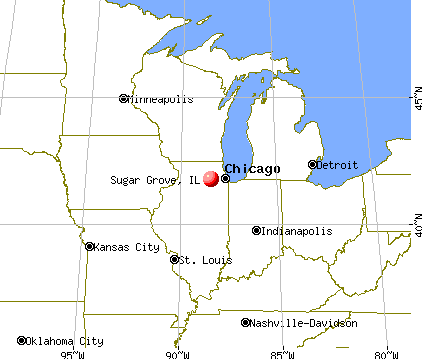 Sugar Grove, Illinois map