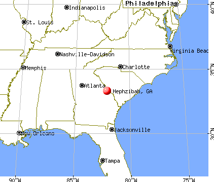 Hephzibah, Georgia map