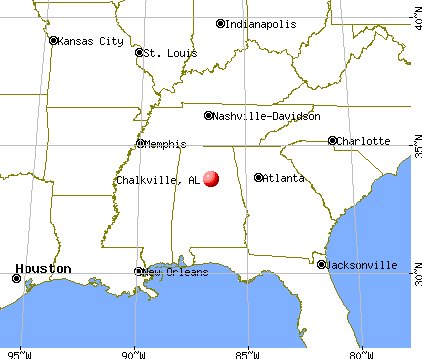 Chalkville, Alabama map