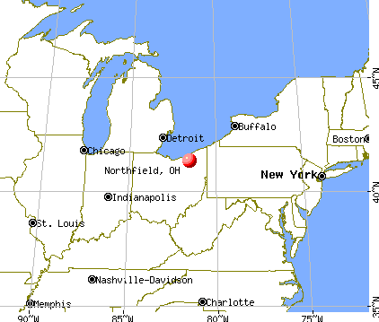 Northfield, Ohio map