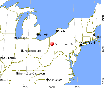 Meridian, Pennsylvania map