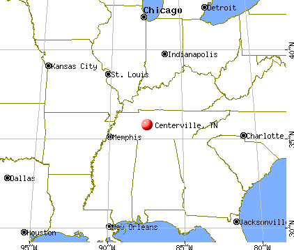 Centerville, Tennessee map